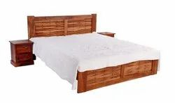Brown Rosewood Bedroom Furniture King Size Wooden Bed