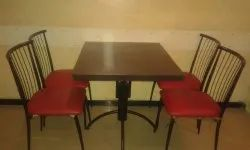 Iron Powder Coated Metal Dining Set, for Restaurant