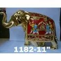 1182 Gold Plated Elephant Statue