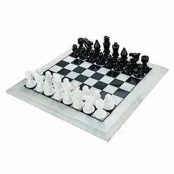 Pure White & Black Marble Chess Set