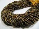 Natural Tiger Eye Rondelle Faceted Beads 3mm Size, Dark Brown Color Beads For Making Jewelry