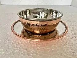 Copper Steel Finger Bowl W Underliner