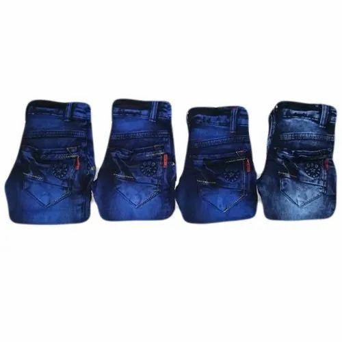 Regular Fit Full Lenght Kids Denim Jeans Pant, Packaging Type: Packet