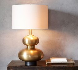 ALLUMINIUM GOLD PLATED TABLE LAMP
