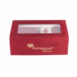 3 Pc Men's Corporate Red & Blue Chequer Aarogyaa Micro Zacard Silk Tie Neck Set Cuff Links Scarf Par