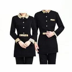 Black Cotton Restaurant Staff Uniform