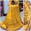 Vichitra Silk Saree With Multy Embroidery Kasmiri Work