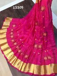 Multicolor Party Wear Lehanga Pure Soft Silk Saree By Shivam Arts