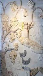 Charcoal Wooden Tree Murals, For Home Decor, Size: Xyz