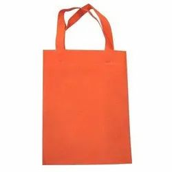 Orange PP Woven Plain Loop Handle Carry Bag