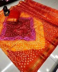 Designer Cotton Pattu Saree