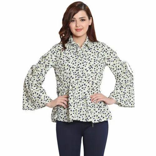 1afe660cf Stylesberry Branded Heavy American Crepe Womens Shirts, Women Shirts ...