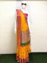 Cotton Ikkat Pochampally Sarees