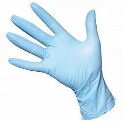 Blue Nitrile Full Fingered Powder Free Gloves