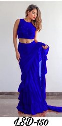 Ladies Ruffle Saree