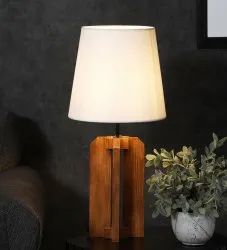Symplify Interio Incandescent Inca Wooden Table Lamp