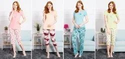 Cotton Printed Ladies Pyjama