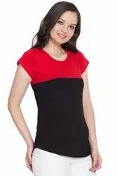 adiva Cotton Ladies t shirt, Size: free size
