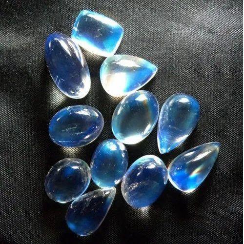 Rainbow Moonstone Natural Gemstone, Rainbow Moonstone Cabochon