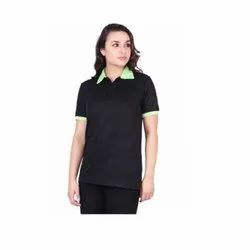 UB-D-Tee-03 Black & Green Designer Polo T-Shirt