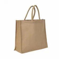 Loop Handle Brown Jute Carry Bag, Capacity: 2-5 Kg