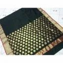 Black Chanderi Saree