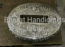 Tissue Box Silver Plated