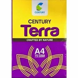 White Century Terra A4 Copier Paper, Packaging Type: Packet