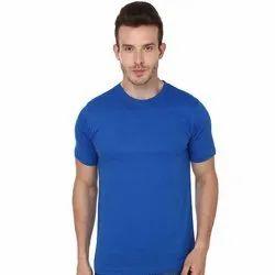 Mens Round Neck Regular Fit Cotton T-Shirt