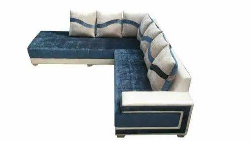 Open f, Open Furnitures Blue L Shape Sofa