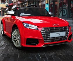 单PVC奥迪TTS电池轿车红色,2x25