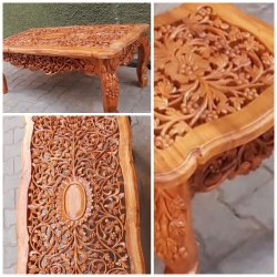 Royal 12-15 Kg Hand Carved Center Table
