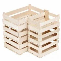 Rectangular 60 Kg Pinewood Storage Crate