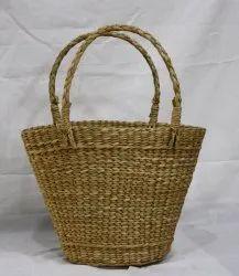 Lal10 Plain Water Hyacinth Woven Bag