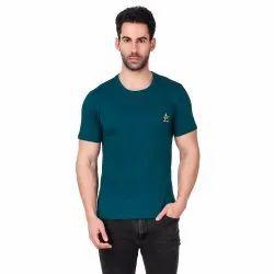 Round Neck Cotton Men Corporate T Shirt, Normal Wash