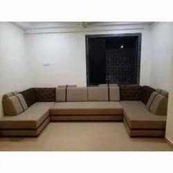 Brown Modern U Shape Sofa Set