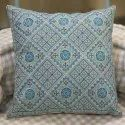 Indian Cotton Sky Blue Embroidery Home Decor Decorative Sofa Chair Cushion Cover