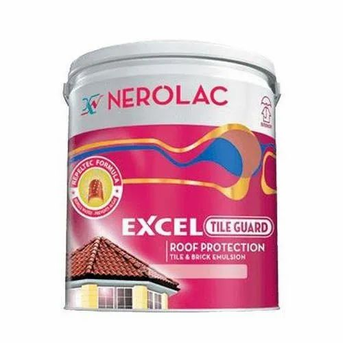 High Gloss Nerolac Excel Tile Guard Emulsion Paint, For Roof Tiles