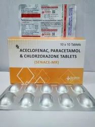 Paracetamol, Aceclofenac And Chlorzoxazone Tablet