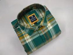 Casual Slim Fit Cotton Twill Check Shirt