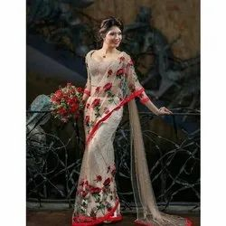 Party wear Embroidered Gotis Saree, 5.5 m (separate blouse piece)