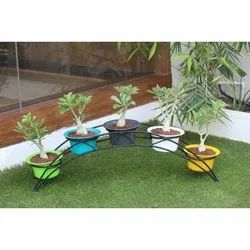 Round Pp Outdoor Plant Pot, Size: 5 Inch
