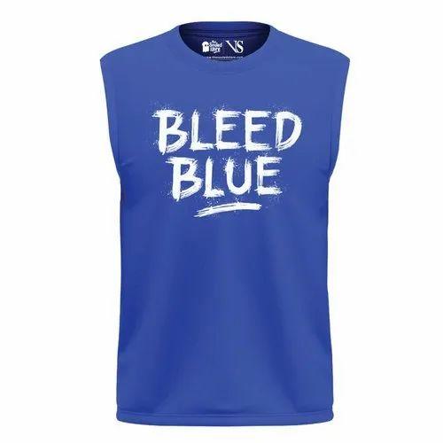 Bleed Blue Printed Vest