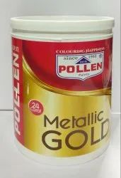 Water Based Paint Metalic Gold Paints, Packaging Type: Can