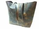 Hv Brown Buffalo Leather Tote Bag, Packaging Type: Export Quality Packing