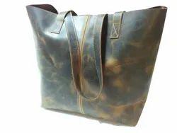Buffalo Leather Tote Bag