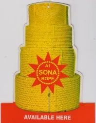 Yellow Or Green PP Ropes, Thickness: 4 Mm To 24 Mm, Size: 220 Mtr Per Roll