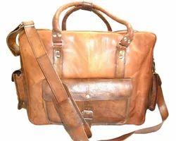 Vintage Brown Handicraft Villa Retro Look Leather Travel Bag