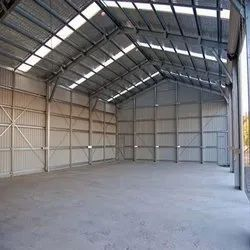 Steel / Stainless Steel Factory Roofing Shed, On Site