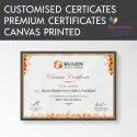 canvas Printed Certificates with Framing